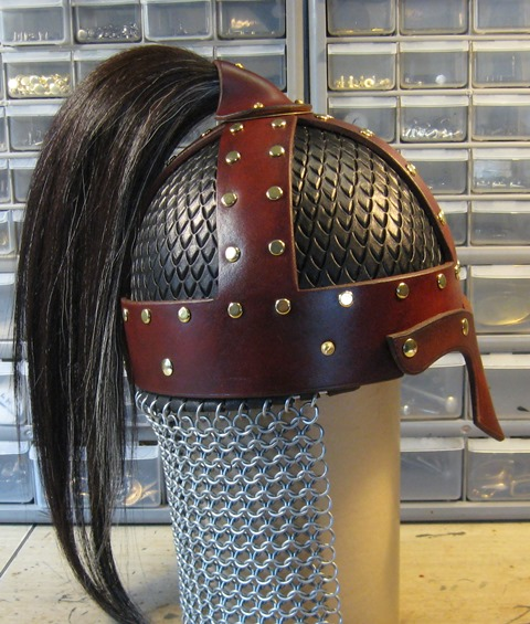 Genuine horsehair plume