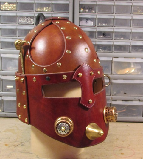 Steampunk Renaissance Helmet Front View