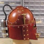 Steampunk Renaissance Helmet Side View