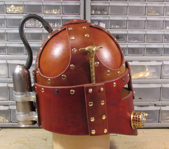 Steampunk Renaissance Helmet Side View