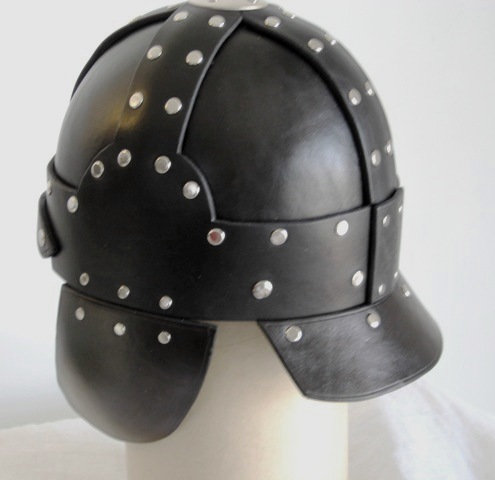 Heavy leather neck guard