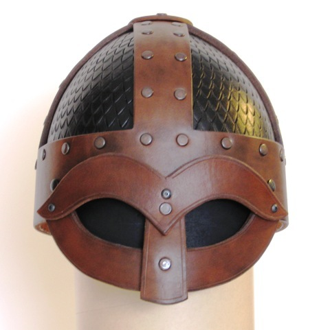 Viking helm with scales