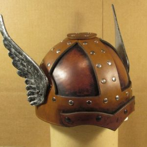 Leather Helms Small Winged Helm